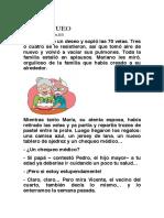 EL CHEQUEO, Por Alicia Ninou