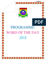 Word of the Day List