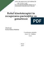 Rolul Kinetoterapiei În Recuperarea Pacienţilor Cu Gonartroză
