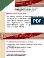 EXPOSICION INPERFECCIONES CRISTALINAS