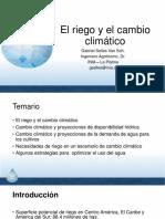 TEMA 2Riego El Riego y El Cambio Climático