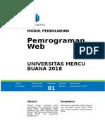 Modul Pemrograman WEB [TM1]