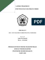 laporan Percobaan SIFAT – SIFAT GELOMBANG MIKRO PEMANTULAN (REFLEKSI)