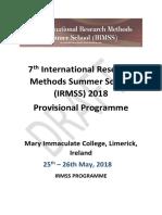Draft Programme_7th International Research Methods Summer School_01.05.2018