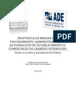 Gento - Propuesta de Mejora Del Procedimiento Administrativo de Autorización de Establecimientos ...
