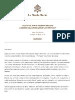 Papa Francesco 20180430 Associazione Unavitarara