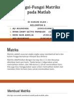 Fungsi-fungsi Matriks Pada Matlab
