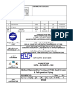 90-QS10-M-626_0_Method Statement for Testing of HVAC Duct System & Refrigeration Piping