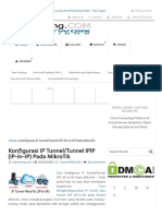 Konfigurasi IP Tunnel_Tunnel IPIP (IP-in-IP) Pada MikroTik