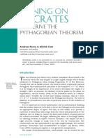 Pythagorean Theorem - 'Socratic Proof'