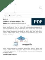 Koneksi SSTP Dengan Mobile Client