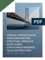 Informe Nº01 Ventajas y Desventajas Del Acero Estructural