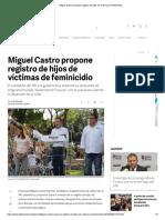01-05-18 Miguel Castro propone registro de hijos de víctimas de feminicidio