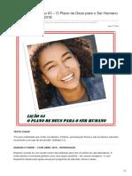 Escolasabatina.com.Br-Adolescentes Lição 03 O Plano de Deus Para o Ser Humano 14 á 21 de Abril 2018