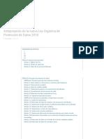 Anteproyecto Ley Proteccion Datos