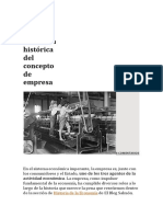 La Evolución Histórica Del Concepto de Empresa