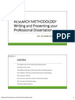 How to Writing and Presenting Your Professional Dissertation