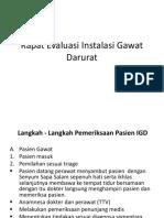 Rapat Evaluasi Instalasi Gawat Darurat.pptx