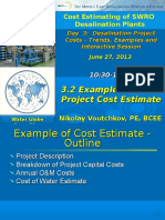 3.2 Example of Cost Estimate