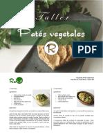 Taller de Patés Vegetales - Daniel Blanco y Pablo Vidal - Centro de Nutrición y Salud Reverde