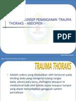 Trauma Thoraks - Abdomen