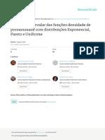 Variancia Intervalar Das Funcoes Densidade de Prob