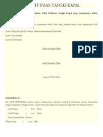 Contoh Perhitungan Tangki Kapal