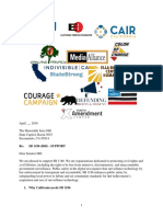 California Coalition Letter
