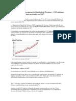 Estadísticas de La Organización Mundial Del Turismo