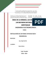 Deivy Ochoa Panel Fotovoltaico