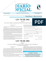 Ley 755 de 2002 (Ley María)
