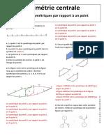 Correction Figures Symétriques Par Rapport à Un Point – Symétrie Centrale – 5ème Exercices Corrigés – Géométrie
