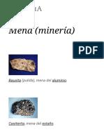 Mena (Minería) - Wikipedia, La Enciclopedia Libre