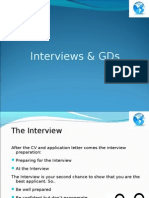 12 . Interviews and GDs