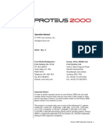 Proteus 2000 Operation Manual