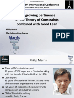 10. 38 TOCPA Paris March 2018 - Philip Marris - Pertinence of TOC & Lean