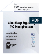 8. 38 TOCPA Paris March 2018 - Jelena Fedurko - Make Change Happen Using TOC's Thinking Processes