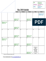 SCDNF May 2018 Schedule