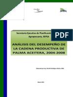 Análisis Del Desempño de La Cadena Productiva de Plama Africana en COsta Rica 2004_2008