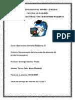 Determinación de La Isoterma de Absorción de Productos Pesqueros