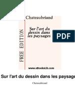CHATEAUBRIAND, François René de - Sur l'art du dessin dans les paysages