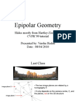 Lecture22 - Epipolar Geometry