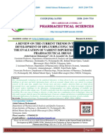 A REVIEW ON THE CURRENT TRENDS IN THE RECENT DEVELOPMENT OF HPLC/UHPLC/UPLC METHODS FOR THE EVALUATION OF VARIENT IMPURITIES IN VARIOUS PHARMACEUTICAL DRUGS