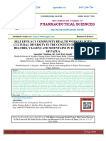 SELF EFFICACY COMMUNITY HEALTH WORKERS WITH CULTURAL DIVERSITY IN THE CONTEXT OF THE PUBLIC BEACHES, VALLEYS AND MOUNTAINS IN THE PROVINCE OF PAPUA