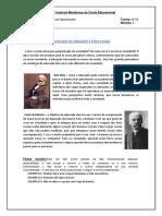 Sociologia Da Educação e Fatos Sociais