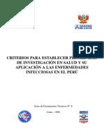 1999 Criterios para establecer prioridades de investigacion en salud y su aplicacion en Ias EI en el Peru. INS.pdf