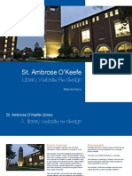 St Ambrose Library Website Redesign Specification