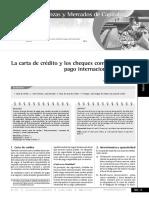 LA CARTA DE CREDITO Y EL CHEQUE COMO MEDIO DE PAGO