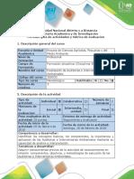 Guía de Actividades y Rubrica de Evaluación Paso 1- Actividad de Reconocimiento