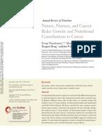 2017 Contribuintes Nutricionais e Genéticos Para o Câncer